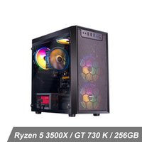 Desktop da gioco iPason Ryzen5 3500x (6 core fino a 4,1 Ghz 7nm) NVIDIA GTX 1050Ti 4 GB 256 GB SSD M.2 8GB DDR4 3000 MHz Windows 10 Home RGB fan