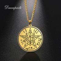Yutong Dawapara Vintage Tetragrammaton подвесные ожерелья Wahyeh Magical Blessed Pentagram Соломона Амулет из нержавеющей стали из нержавеющей стали