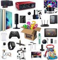 Caixa de mistério eletrônica, caixas aleatórias, surpresa de aniversário favores, sorte para adultos presente, como drones, relógios inteligentes,