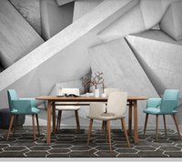 Wallpapers Papel De Parede Modern Simple 3D Stereo Geometric Concrete Industrial Style Wallpaper,living Room Tv Wall Bedroom Bar Club Mural