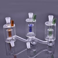 Mini cheap 10mm female glass oil burner Bongs small glass downstem oil rig Ash Catcher Hookah Pipe Smoking pipes rigs with silicone hose