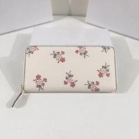 2021 new ladies designer wallet women single zipper clutch bag long print large capacity double wallets mobile phone