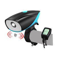 Lights Bike Light Light Horn Horn Speaker Bell HeardBar T6 LED Rowerowy MTB Lampa przednia USB Ładowanie
