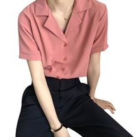 Women's Blouses & Shirts Summer Solid Loose Blouse Women Casual Breathable Female Short Sleeve Large Size Clothing Lady Tops Shirt