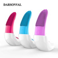DARSONVAL Facial Cleansing Brushes Electric Vibration Silicone Instrument Sonic Brush IPX7 Waterproof