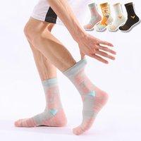 Men's Socks 3 Pairs Lot Basketball Cycling Sport Sockings Cotton Running Professional Thick Anti-Slip Soft Damping Men Women