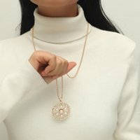 Pendant Necklaces Delicate Simple Baroque Pearl Diamond Necklace & Fashion Workwear Jewelry Accessory