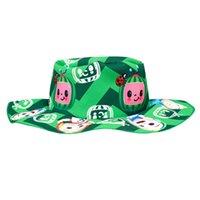 Мультфильм Детский рыбацкий шляпа Cocomelon JJ Boys Boys Girls Sun Hat Красочные Мода Симпатичные Печатные Детские Ведро Шляпы Детские Детские Визуализации Детские Детские Визуализации Sunhat Gifts G82TPO