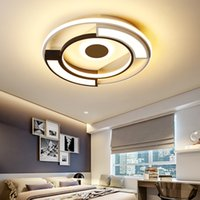 Nordic Acrylic LED Ceiling Lights Lamp Home Master Bedroom Study Dining Living Room Round Modern Simple Black White Body Restaurant Dimmable Light R371