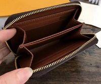 أعلى جودة المصممين الفاخرة عملة محفظة الرجال النساء حاملي بطاقة ماركة محفظة 4 ألوان جيدة حقيبة جلدية صغيرة سستة جيب مع هدية مربع