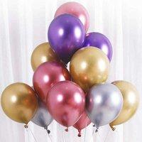 Kleurrijke groothandel 12 inch latex ballonnen 50 stks / partij metalen kleur ballonnen verjaardag bruiloft decoraties