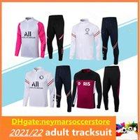 20 21 Paris Mbappe Soccer Tracksuit Veste à glissière 2021 Adulte Maillot de Football Entraînement de Football Suite Chandal Jogging