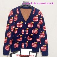 Designer Frauen Pullover Strickbrief Gestrickte Pullover langärmelige Strickjacke Mode Casual Jacke V-Ausschnitt Strickwaren Hemden 2 Arten S-L