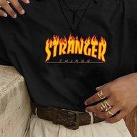 Hahayule jbh chama stranger womens t shirt coisas gráfico tee unisex homens 100% camisa de algodão hipster harajuku legal