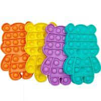 30 шт. / DHL Candy Bear Fash Poo-его ерзет пузырь POPERS доска сенсорных игрушек Push POP POP IT на рабочем столе пальцами пузырьки головоломки декомпрессия