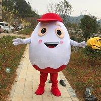 Trajes de mascote personalizam os trajes brancos da mascote do ovo de mascote do ovo com trajes vermelhos do Dia das Bruxas para a venda