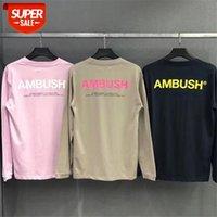 Pusu Uzun Kollu T Gömlek Erkek Kadın 1: 1 Çift Severler T-shirt Klasik Minimalist # 0A8T