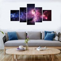 5pcs / set univerfe univerzed nebulosa impresión moderna pintura aerosol