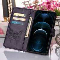 butterfly flip book card holder leather wallet phone cases For Samsung A10 A50 A32(5G) S11 S21ultra Xcover5 note8 9 10 20 10pro 20ultra case cover