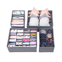 Duffel Bags Underwear 4 Pack Drawer Dividers For Clothes Sock Bra Lingerie Storage Closet Organizers Washable Foldable Box