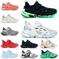 Paris Triple S Track 3.0 Brand Authentic Outdoor Shoes Man Woman Pink Black White Blue Red Purpe Balencaiga New Sports Retro Platform Sneakers Trainers Size 36-46