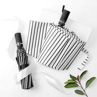 Umbrellas Full Automatic Umbrella For Men 3folding 10ribs Gift Large Sun Protection Black Coating Sombrilla