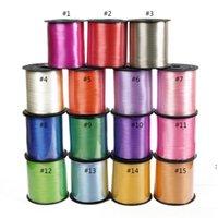 Красочный баллон ленты свадьбы свадьбы день рождения украшения подарка упаковочные струны 220 м * 5 мм / рулон 15 цвет можно выбрать NHD7042