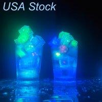 LED Cubos de hielo Luces parpadeando Lights Sumersiable Lights Up Rocks para Bar Club Fiesta de boda Regalo de regalo Torre de Champagne Decoración de EE. UU.