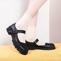Dress Shoes School Student College Girl Sweet Lolita JK Uniform Mary Jane Low Heel Women Sneakers