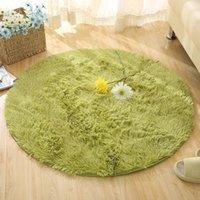 Carpets Silk Wool Carpet Living Room Bedroom Computer Yoga Mat Hanging Basket Chair Round