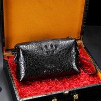Men's Local Clutch Handbag Leather Leather Bag Trendy Large-capacity Men's 2021 Crocodile Tyrant Bag New Folder Clutch Xchsb