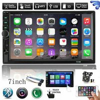 """Car Video 7"""" Inch Double 2 DIN Bluetooth-compatible Radio Stereo FM AUX MP5 Player Touch Screen With Reverse Camera Multimedia-Player"""
