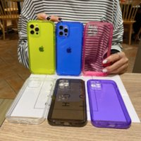 Transparent color shell creative tpu phone cases for iphone13 pro max 12 min 11 X XR XS 7 8 plus case cover