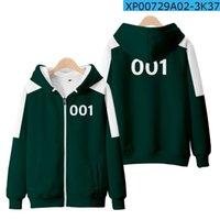 Squid Game Cosplay Coat Sportswear Jacket 456 Digital Sweater 001 Korean Drama Clothes Halloween Costume