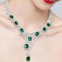 Earrings & Necklace GODKI Super Luxury 2PCS Big Geometric Africa Cubic Zirconia Set Jewelry For Women Wedding Dubai Bridal