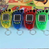 Fußform Elektronische Haustiere Tamagotchi Spielzeug Schlüsselanhänger Vintage Digital Pocket Mini Retro Spielmaschine Schlüsselanhänger Nostalgisches Spielzeug Student Geschenk G400493