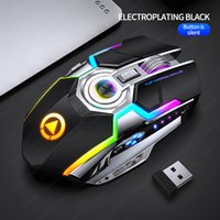 Kenelc A5 Wireless charging mice Red light engine RGB backlit silent mouse decompression metal scroll wheel USB link