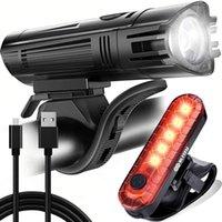 Bike Lights Light Set USB Rechargeable Bicycle Headlight And Tail Waterproof Rear LED Handlebar Lamp