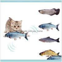 Casa Giardino 30cm Cats Catnip Elettronico Catnip USB Carica Simulazione Fish Toys Dog Cat Giocare Morso Persia Stock Forniture Set1 DR