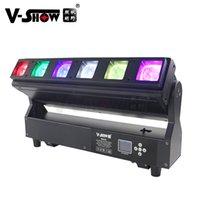 V-show USA Warehouse 1pc 6 * 40W RGBW Zoom Moving Bar Lights Individual Control voor elke LED DJ Disco