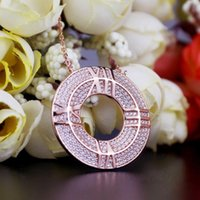 Collares colgantes Aybs Real925 TIF de alta calidad original1: 1LOGO Shining Roman Numerial Pendan Jewelry Woman