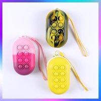 Christmas Cute Hand Bags Fidget Toys Kids Pencil Cases Simple Dimple Push Sensory Figet Toy Autism Antistress Game