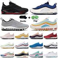 나이키 에어 맥스 에어 맥스 97 2021 할로윈 97OG 트레이너 남성 여성 운동화 MSCHF x INRI Jesus Sean Wotherspoon Indigo Storm Golf Tie Dye Sports Sneakers