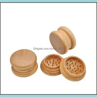 Other Aessories Household Sundries Home & Garden12 Pcs   Lot Smoking 5M 2 Layers Metal Tobao Herb Grinder Handle Mler Shredder Wood Spice Cr
