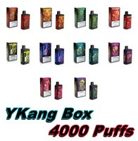 4000 Puffs Ykang Одноразовые Vape Device Перезаряжаемое 550 мАч Коробка MOD 10ML POD Пусто с 5% Flavr 10 Цветов Электронная сигаречная полоса