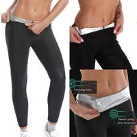Women's Leggings Women Thermo Body Shaper Slimming Pants Silver Weight Loss Waist Trainer Fat Burning Sweat Sauna Capris Shapewear Suits