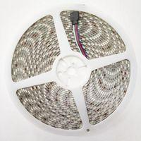 10m / lot rgb LED bande de bande SMD 600Le flexible non imperméable de 10mm largeur 60 LED / m carte née 4pin fémeleconnector bandes