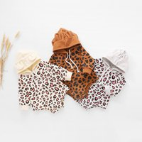 Baby Boys Girls Clothing Spring Autumn Fashion Leopard Printing Hooded Long Sleeve Romper born Casual Home Jumpsuit 210506
