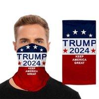 Las elecciones presidenciales de Estados Unidos Trump 2024 Magic Bufanda Mascarillas de ciclismo Bufandas de motocicleta Cuello de la cabeza Cuello Mujeres Hombres Adultos Mascarilla de cara al aire libre G3301