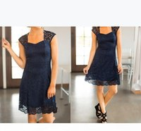 Bridesmaid Dresses 2018 Country Short For Weddings Full Lace Cap Sleeves Navy Blue Burgundy Open Back Plus Size Formal Maid of Honor Gowns